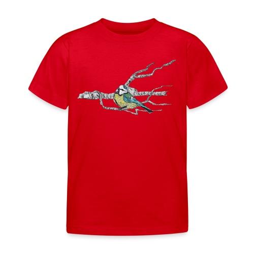 Blaumeise auf Ast - Kinder T-Shirt