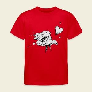 Rosenblattherz - Kinder T-Shirt