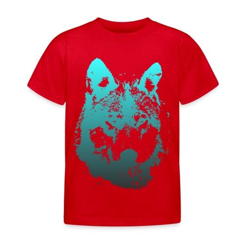illustration tete de loup - T-shirt Enfant