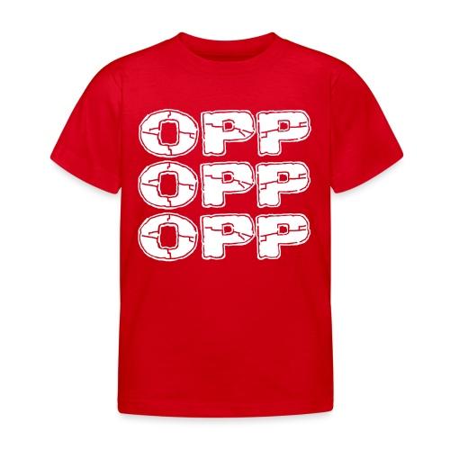 OPP Logo White - Lasten t-paita