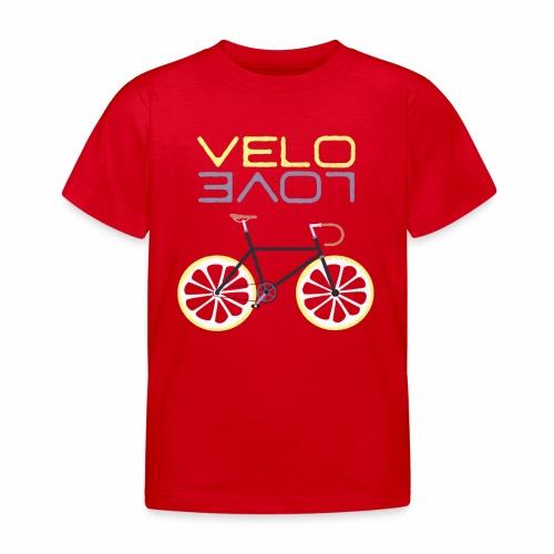 Lemon Bike - Velo Love Shirt Rennradfahrer Shirt - Kinder T-Shirt