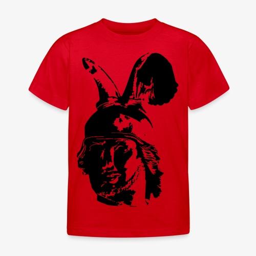 Kopf des Hermannsdenkmals - einfarbig, schlicht - Kinder T-Shirt