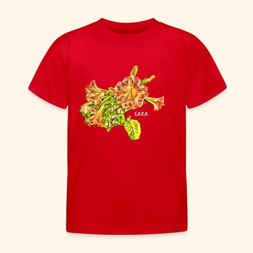 Trompetenbaum Blüten von S.A.R.A. - Kinder T-Shirt
