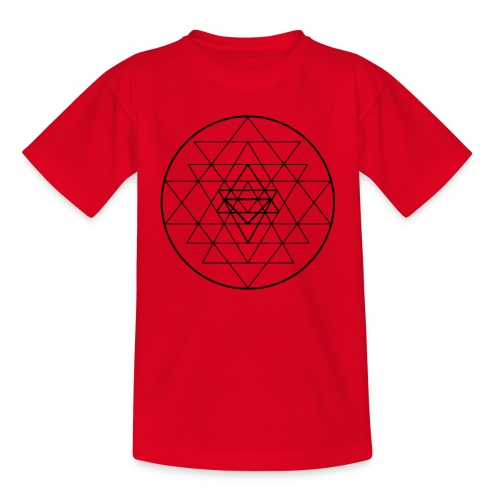 Sri Yantra - black and white - Børne-T-shirt
