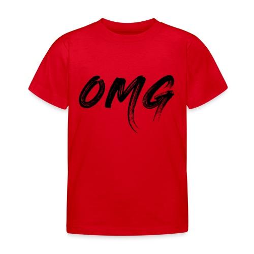 OMG, musta - Lasten t-paita