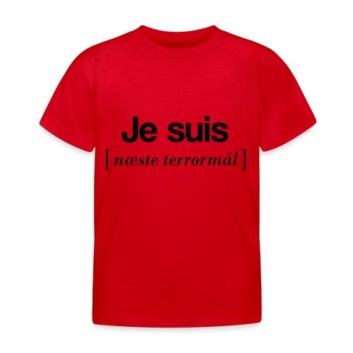 Je suis (sort skrift) - Børne-T-shirt