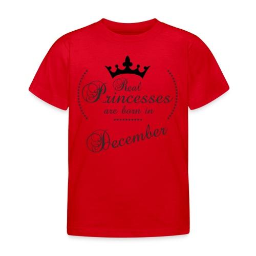 Real Princesses black December - Kinder T-Shirt