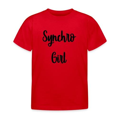 Synchro Girl - Lasten t-paita