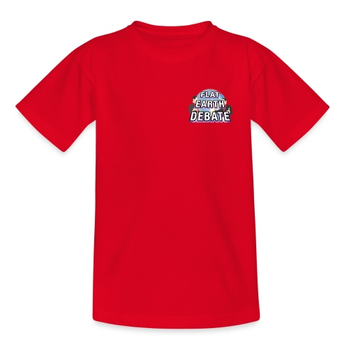 Flat Earth Debate Solid - Kids' T-Shirt