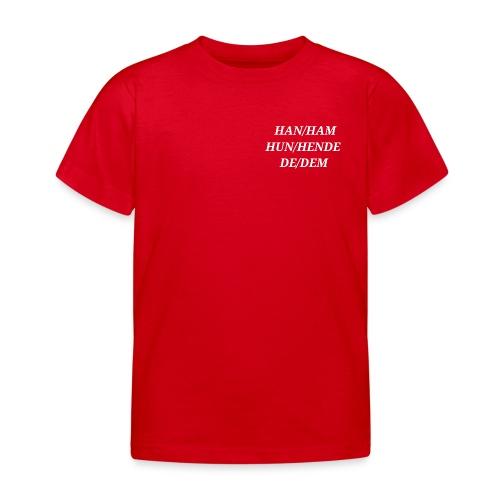 Pronomener - Børne-T-shirt