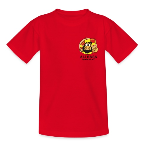 Textilien - Einzelner Druck mit schwarzer Schrift - Kinder T-Shirt