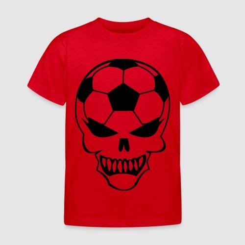 Fußball-Totenkopf - Kinder T-Shirt