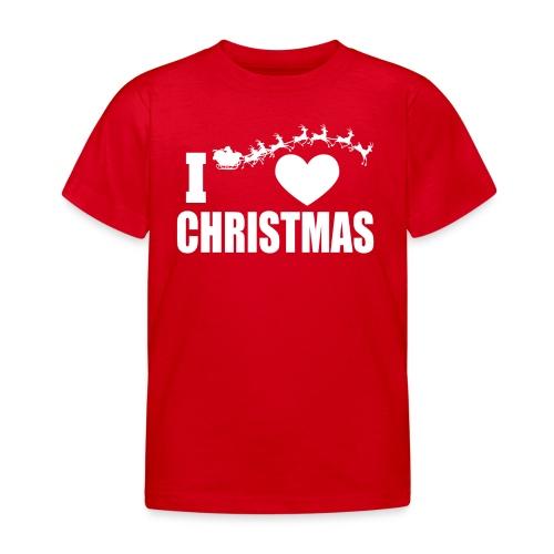 I Love Christmas Heart Natale - Maglietta per bambini