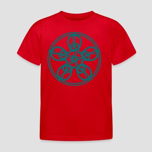 Treble Clef Mandala (teal) - Kids' T-Shirt