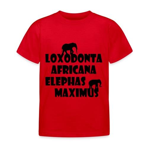 LOXODONTA AFRICANA - ELEPHAS MAXIMUS - Kinder T-Shirt