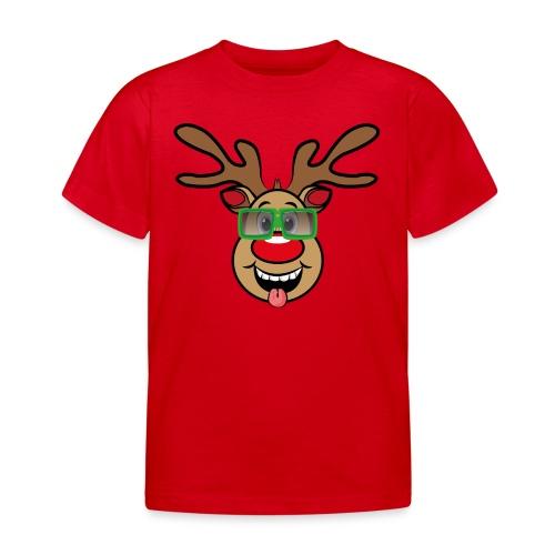 Weihnachten Rudi mit Brille - Kinder T-Shirt