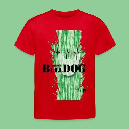 French Bulldog - Kids - gruen - Kinder T-Shirt