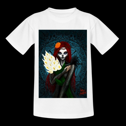 Death and lillies - Kids' T-Shirt