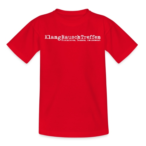 KlangRauschTreffen als Schriftzug - Kinder T-Shirt