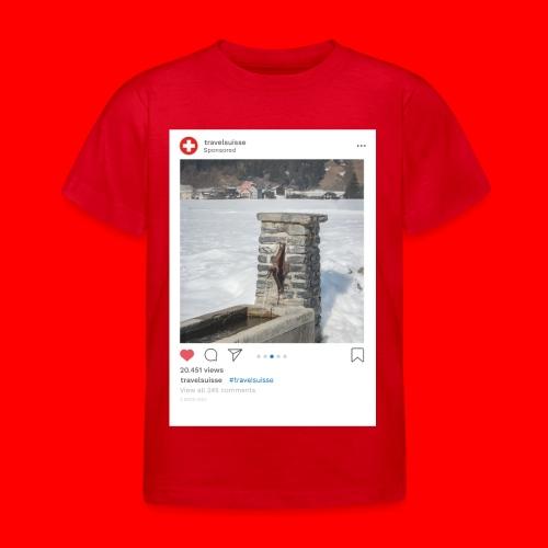 travelsuisse - Brunnen Trin - Kinder T-Shirt