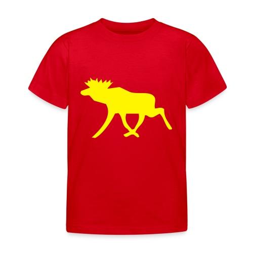 Schwedenelch; schwedisches Elch-Symbol (vektor) - Kinder T-Shirt