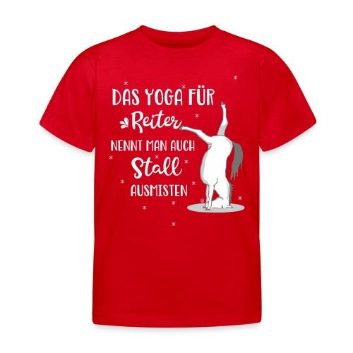 Yoga Pferd Stall ausmisten - Kinder T-Shirt