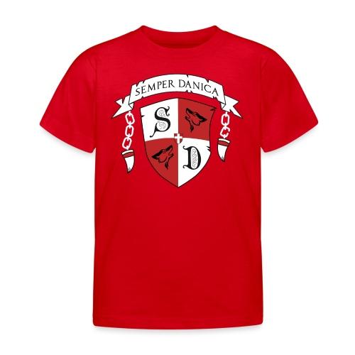 SD logo - hvide lænker - Børne-T-shirt