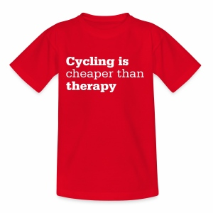 Cycling is therapy - Kinder T-Shirt