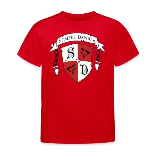 SD logo - sorte lænker - Børne-T-shirt