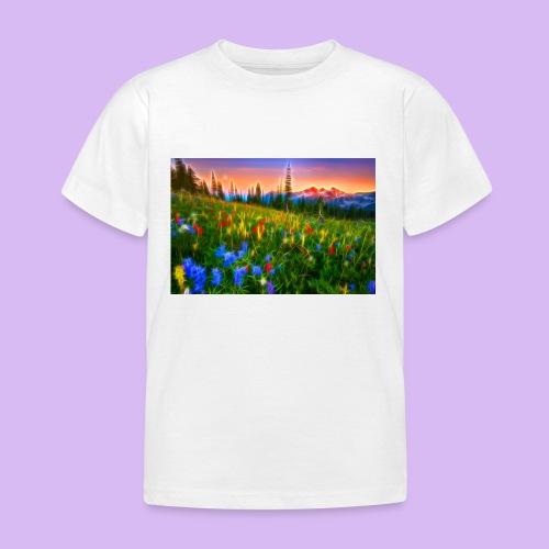 Bagliori in montagna - Maglietta per bambini
