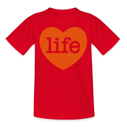 LOVE LIFE heart - Kids' T-Shirt
