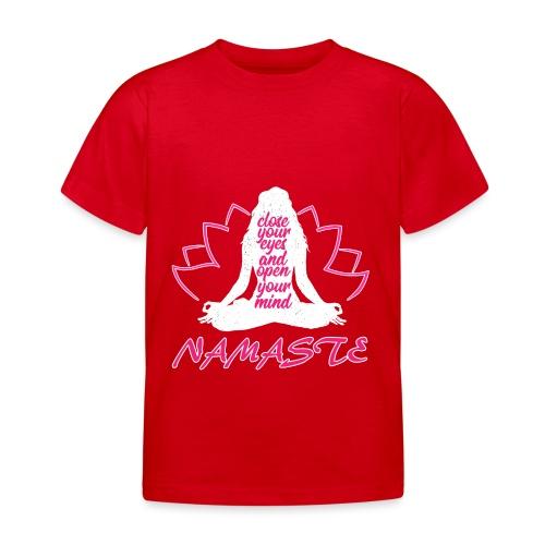 chiudi gli occhi namaste yoga pace amore sport arte - Maglietta per bambini