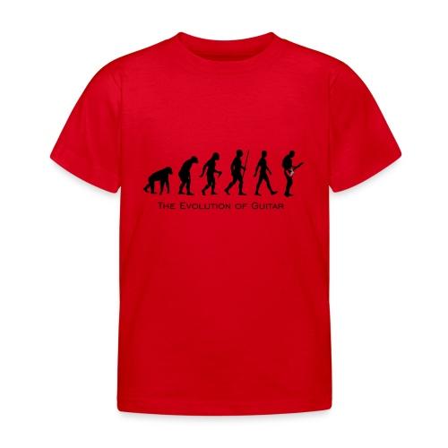 The Evolution Of Guitar - Camiseta niño