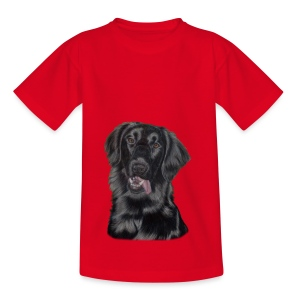 flatcoated retriever p - Børne-T-shirt