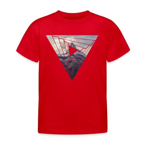 Matterhorn Zermatt Dreieck Design - Kinder T-Shirt