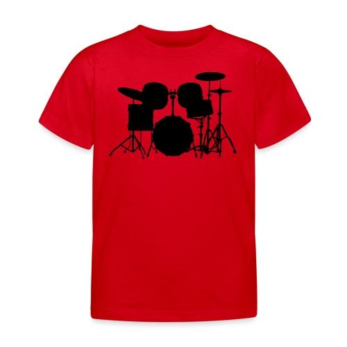 Drumset 1 Kontur schwarz - Kinder T-Shirt