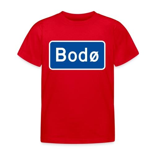 Bodø veiskilt (fra Autonaut) - T-skjorte for barn