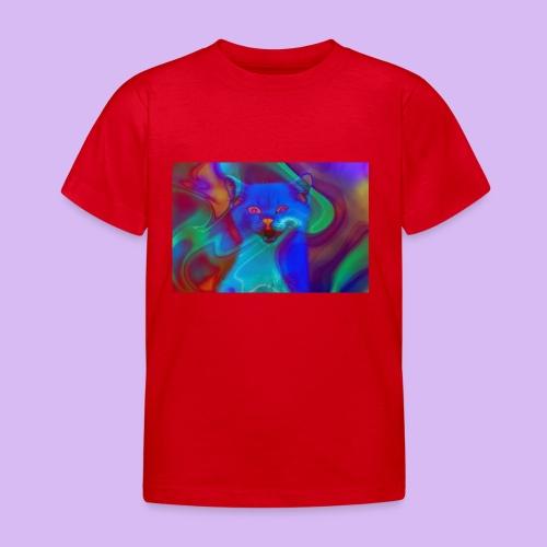 Gattino con effetti neon surreali - Maglietta per bambini