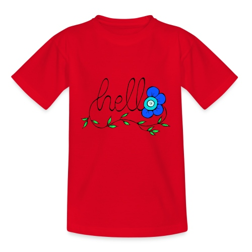 Hello Blume. - Kinder T-Shirt