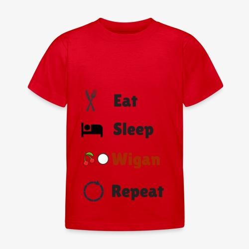 Eat Sleep Wigan Repeat - Kids' T-Shirt