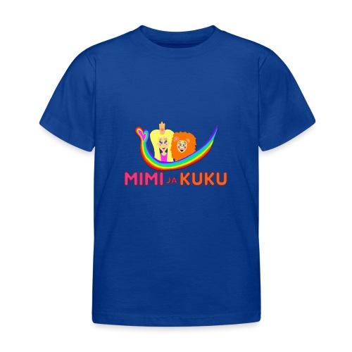 Mimi ja Kuku- sateenkaarilogolla - Lasten t-paita