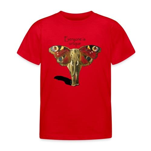 Everyone is unique – Schmettefant - Kinder T-Shirt
