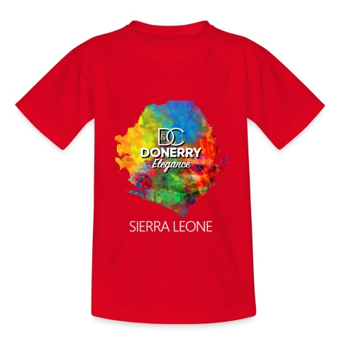 Sierra Leone Colourful Map Dark - Kids' T-Shirt