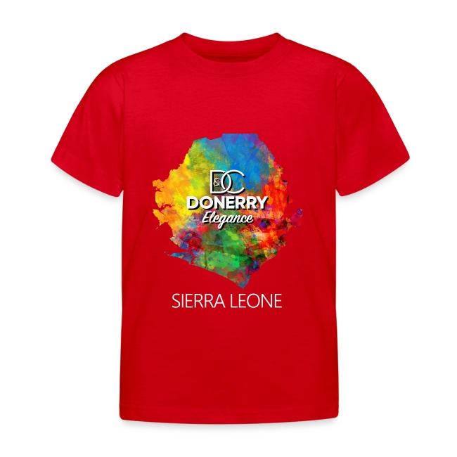 Sierra Leone Colourful Map Dark