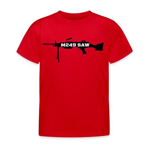 M249 SAW light machinegun design - Kinderen T-shirt
