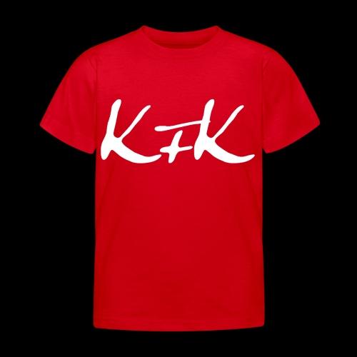 KFK logo blanco - Camiseta niño