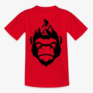 MonkeyzGoDownhill Head - Kinder T-Shirt