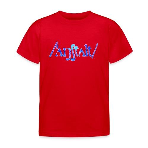 /'angstalt/ logo gerastert (blau/weiss) - Kinder T-Shirt