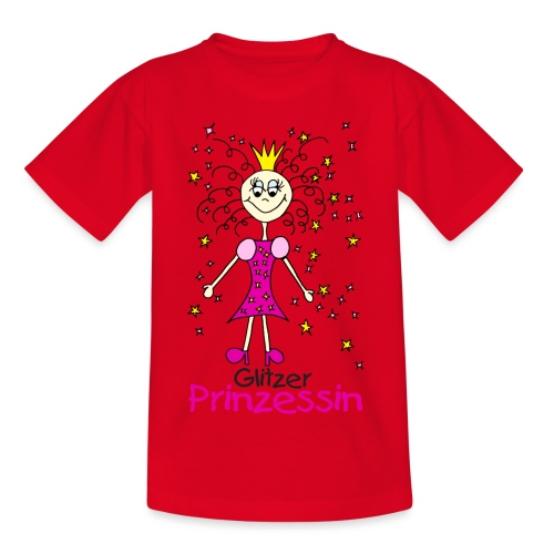 Glitzer Prinzessin - Kinder T-Shirt