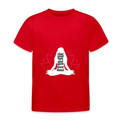 chiudere gli occhi bianco yoga pace amore sport arte - Maglietta per bambini